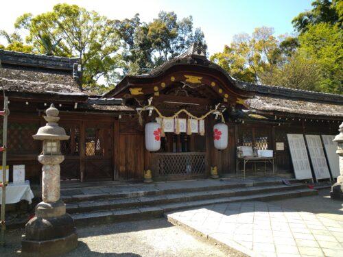平野神社の本堂